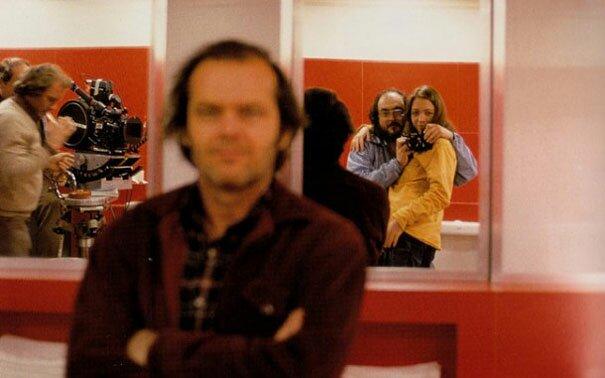 Kubrick photobombs Nicholson